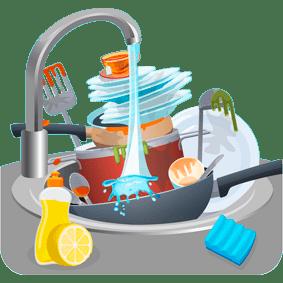 Услуга: мойка посуды