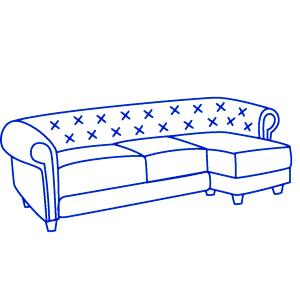 Угловой кожаный диван 2