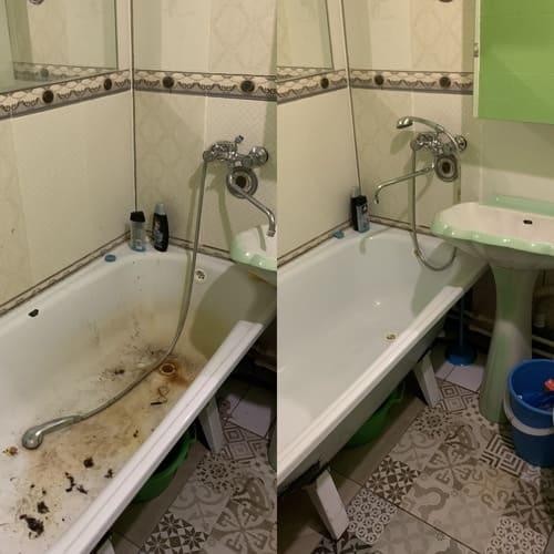 Комплексная уборка кухни и ванной комнаты