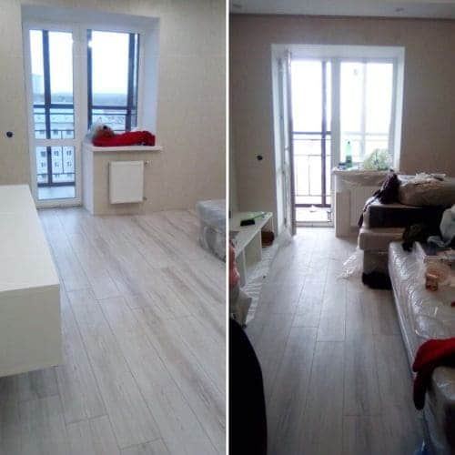 Уборка большой квартиры после ремонта
