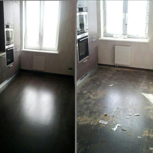 Уборка квартиры и кухни после капитального ремонта