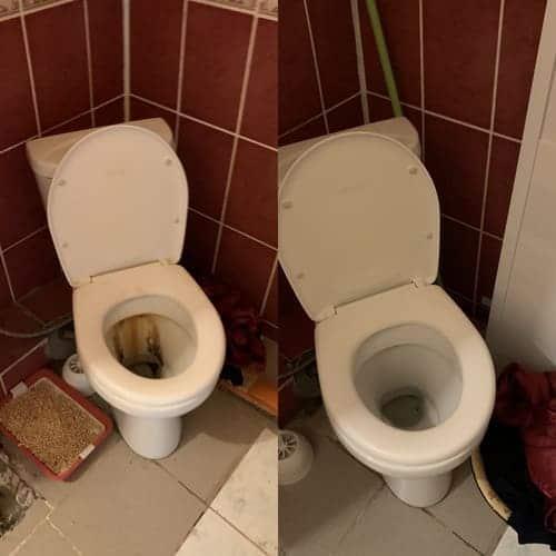 Уборка очень грязной квартиры с мытьем старых пятен в санузле